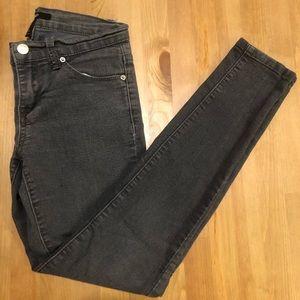 Forever 21 gray skinny jeans